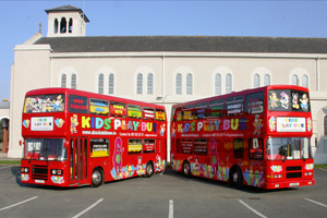 The Kids Play Bus is a party play zone on wheels - Hire now and bring the party to you! - Absolute Limos